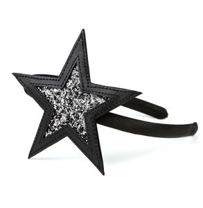 Stellar Leather And Glitter Hairband - hair accessories