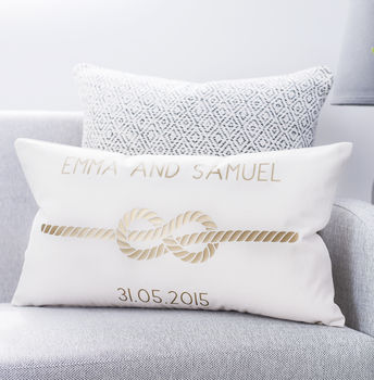 Personalised Infinity Love Knot Cushion