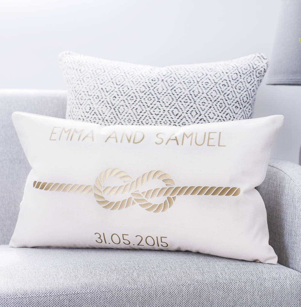 Personalised Infinity Love Knot Cushion By Clouds And Currents Notonthehighstreet Com