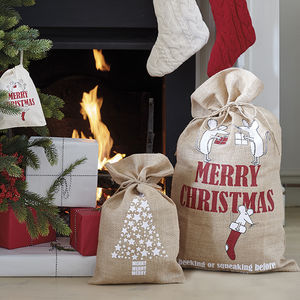 Festive White Mice Christmas Sack - stockings & sacks