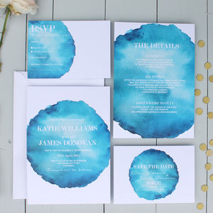Bold Watercolour Wedding Invitation - brand new partners