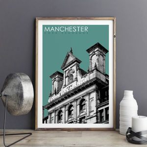 Manchester Art Prints Corn Exchange Travel Poster - posters & prints