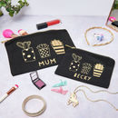 Personalised Mum And Child Cactus Make Up Bag Set