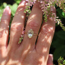 Rhea 9 Ct Gold Marquise Rutilated Quartz Ring