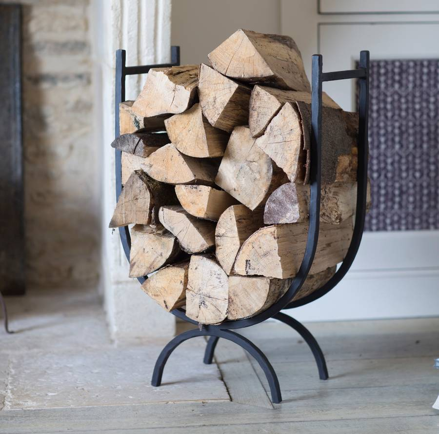 large cast iron log store by the forest & co ...