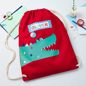 Boys Personalised Crocodile Bag - children's room