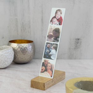 Photo Booth Picture Frame In Steel With Wooden Base - new in prints & art