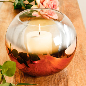 Copper Ball Candle Holder