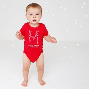 First Christmas Nordic Deer Body Vest - baby & child christmas clothing