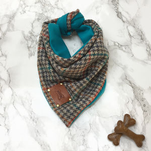 Otto Luxury Tweed Dog Bandana Neckerchief - new in pets