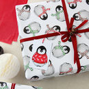 Christmas Wrapping Paper Penguin Scarves