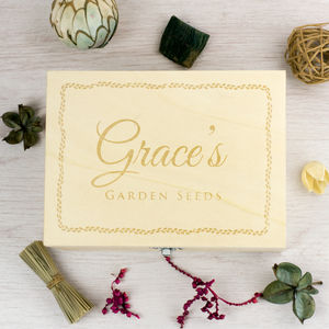 Personalised Garden Keepsake Box - storage