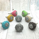 Willow Woven Cord Cupboard Door Knobs Pull Handles
