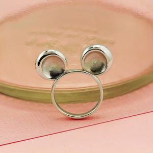 Sterling Silver Mouse Ring