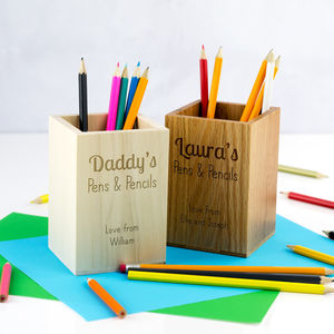 Personalised Pens And Pencils Pot
