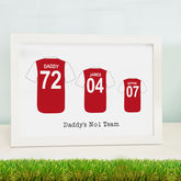 Personalised Father Son Football Shirt Print - prints & art