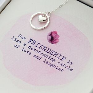 Friendship Is A Circle Necklace