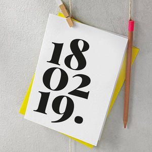 Personalised Date Card - 18th birthday cards
