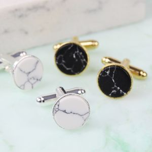 Marble Disc Cufflinks - men's accessories