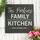 Personalised Family Kitchen Slate Sign