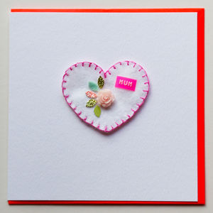 Personalised Mother's Day Heart Greeting Card - what's new