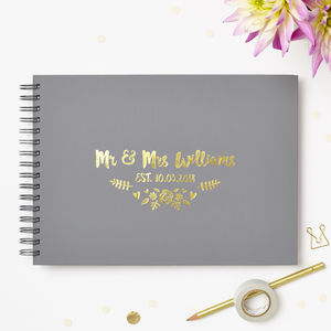 Botanical Wedding Guest Or Memory Book - personalised