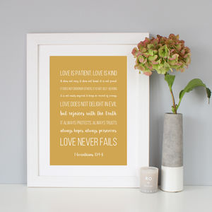 'Corinthians' Wedding Gift - posters & prints