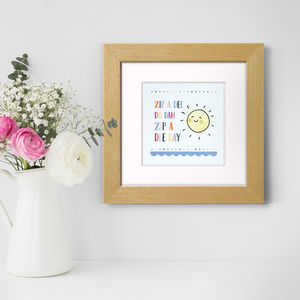Zip A Dee Do Dah, Nursery Print - children's room
