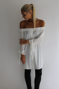 Tie Sleeve Off Shoulder Top/Dress - tops & t-shirts