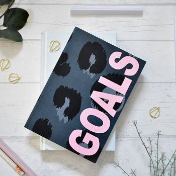 A5 Notebook Animal Print 'Goals' 120 Pages