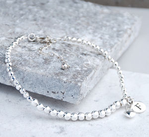 Personalised Sterling Silver Bead Bracelet - women's jewellery