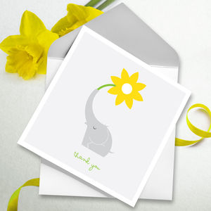 Thank You Card Single Flower - thank you cards