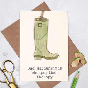 Personalised Gardeners' Keepsake Fathers Day Card