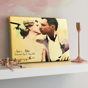 Personalised Photo Effect Metallic Canvas - home accessories