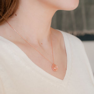 Bird In Cage Rose Gold Necklace
