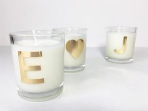 Couples Scented Candles - table decorations