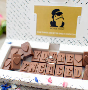 'You're Engaged' Chocolate Card - card alternatives