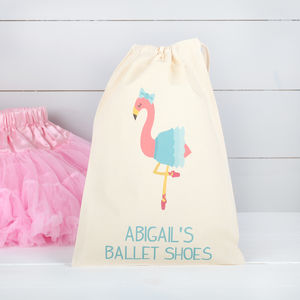 Personalised Ballet Flamingo Girls Bag