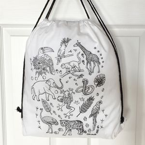 Colour In Zoo Animals Bag - bags & purses