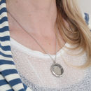 Dates 1928 To 1967 Sixpence Glass Locket Necklace