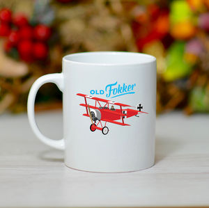 'Old Fokker' Mug - tableware