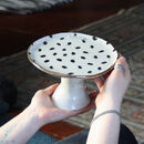 Personalised Polka Dot Ceramic Cake Stand