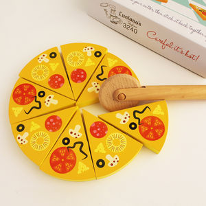 Wooden Pizza Play Set - traditional toys & games