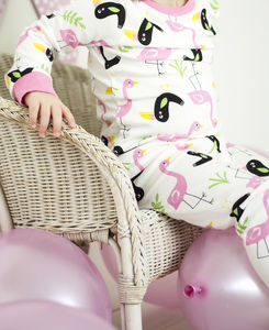 Children's Pyjamas Flamingo And Toucan - gifts for babies & children sale