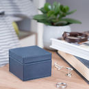 Personalised Mens Leather Stud Box Ink Blue
