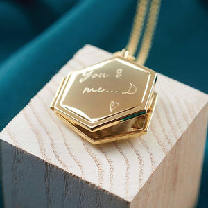 Personalised Long Locket Necklace - gifts for mothers