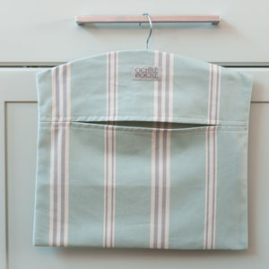 Eastnor Green Stripe Organic Peg Bag
