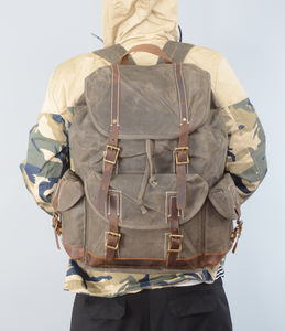 Waxed Canvas Backpack - bags