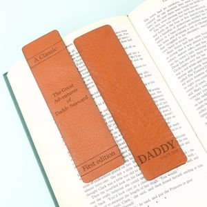 Personalised Leather Bookmark - bookmarks