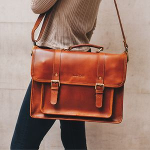 Leather Satchel Bag '' The Classic ''